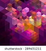abstract colorful  geometric... | Shutterstock .eps vector #289651211