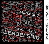 concept or conceptual text word ... | Shutterstock . vector #289652084