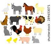 vector set of cartoon farm... | Shutterstock .eps vector #289653071