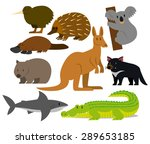vector set of cartoon... | Shutterstock .eps vector #289653185