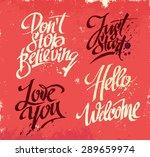 hand drawn lettering for card.... | Shutterstock .eps vector #289659974