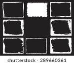 grunge frame set. vector... | Shutterstock .eps vector #289660361