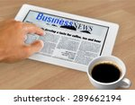 newspaper  the media  ipad. | Shutterstock . vector #289662194