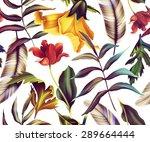 seamless tropical flower  plant ... | Shutterstock . vector #289664444