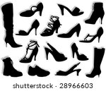 different kind of shoes and... | Shutterstock . vector #28966603