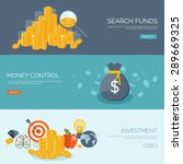 flat money making background.... | Shutterstock .eps vector #289669325