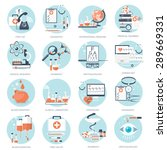 medical flat vector background... | Shutterstock .eps vector #289669331