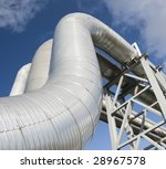 industrial pipelines on pipe... | Shutterstock . vector #28967578