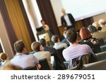speaker at business conference... | Shutterstock . vector #289679051