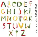 Small photo of Alphabet, Vegetable, Food.