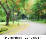 blurred park with bokeh | Shutterstock . vector #289680959
