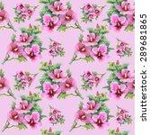 summer colorful floral garden... | Shutterstock . vector #289681865