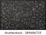 summer beach chalkboard hand... | Shutterstock .eps vector #289686725