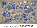 marine nautical hand drawn... | Shutterstock .eps vector #289687139