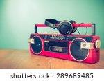 Retro Old Radio Cassette Tape...