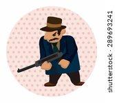 mafia theme elements | Shutterstock .eps vector #289693241