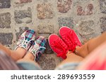 top view of a two pairs of... | Shutterstock . vector #289693559
