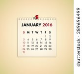 Note Paper Calendar Vector...