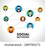 social network design over... | Shutterstock .eps vector #289700171