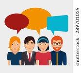 social network design over...   Shutterstock .eps vector #289701029