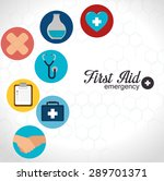 first aid design over white... | Shutterstock .eps vector #289701371