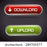 download design over black... | Shutterstock .eps vector #289705577