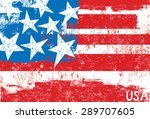 american flag a stylized ... | Shutterstock .eps vector #289707605