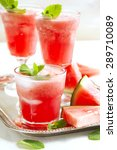 watermelon smoothies | Shutterstock . vector #289710089