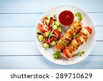 shashlik   grilled meat and... | Shutterstock . vector #289710629