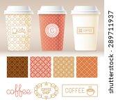 vector take away coffee... | Shutterstock .eps vector #289711937