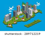 vector isometric city on russia ... | Shutterstock .eps vector #289712219