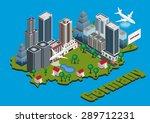 vector isometric city on... | Shutterstock .eps vector #289712231