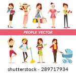 woman's lifestyle  | Shutterstock .eps vector #289717934