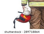 Close Up Firefighter Holding...