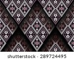 geometric ethnic pattern design ... | Shutterstock .eps vector #289724495