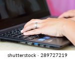 close up of typing female hands ... | Shutterstock . vector #289727219