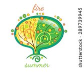 stylized summer tree  the... | Shutterstock . vector #289739945