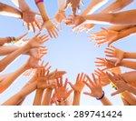 Lot Of Children's Hands Reach...