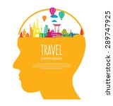 travel and tourism concept... | Shutterstock .eps vector #289747925