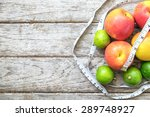 healthy fruit with measuring... | Shutterstock . vector #289748927