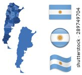 high detailed map of argentina... | Shutterstock .eps vector #289749704