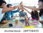 creative business team putting... | Shutterstock . vector #289758455