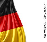 germany flag of silk and white... | Shutterstock . vector #289758587