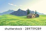 Mountain Alpine Landscape With...