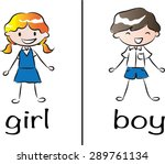 boy and girl signs | Shutterstock .eps vector #289761134