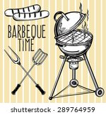 A Set Of Retro Style Barbecue...
