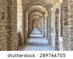 Castle Tunnel With A Series Of...