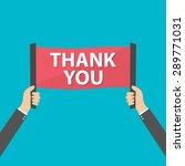 businessman holding thank you... | Shutterstock .eps vector #289771031