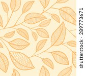 seamless leaves background.... | Shutterstock .eps vector #289773671
