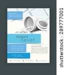 stylish flyer  template or... | Shutterstock .eps vector #289777001